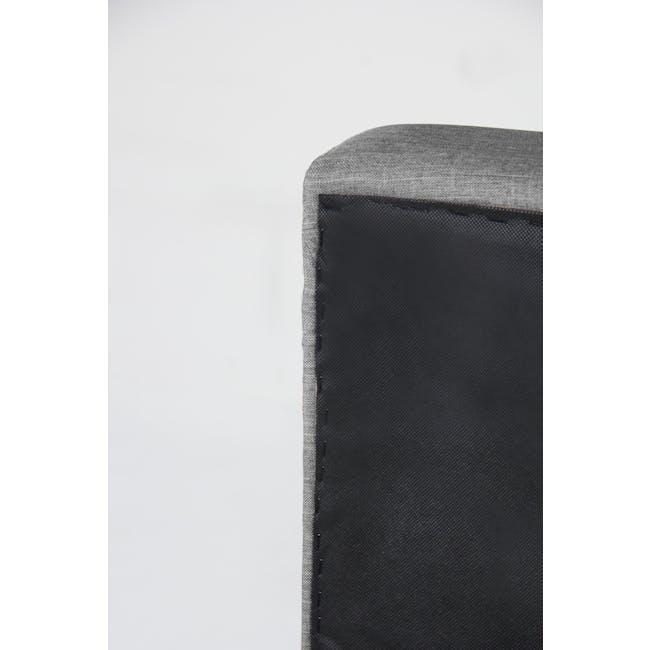 ESSENTIALS Super Single Headboard Box Bed - Grey (Fabric) - 7