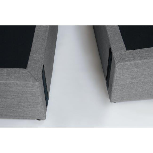ESSENTIALS Super Single Headboard Box Bed - Grey (Fabric) - 8