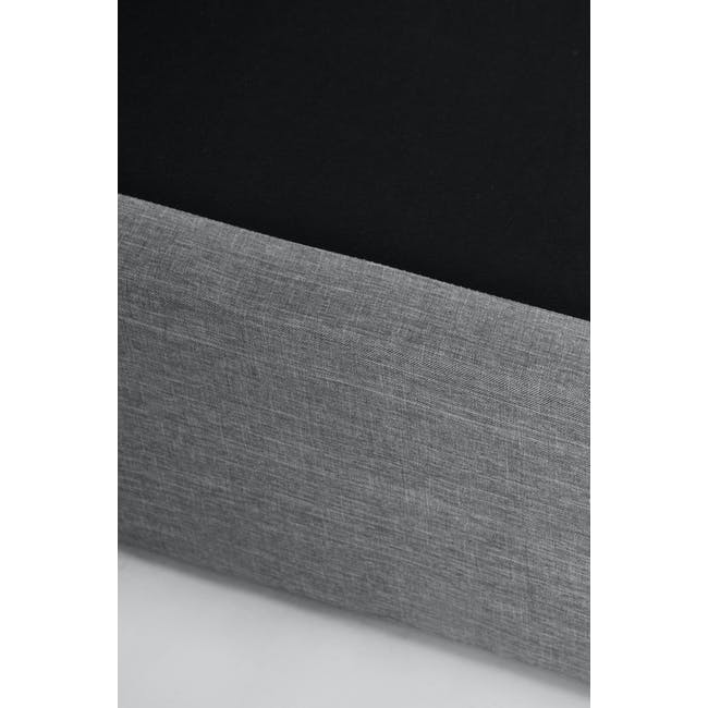 ESSENTIALS Super Single Headboard Box Bed - Grey (Fabric) - 10