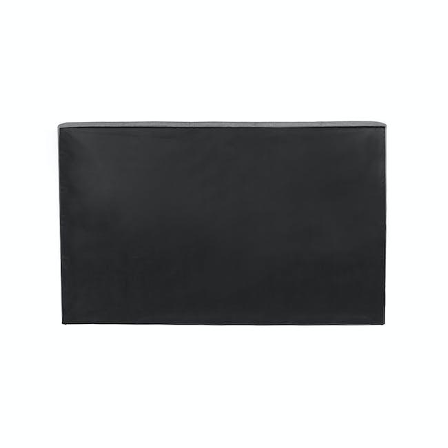 ESSENTIALS Super Single Headboard Box Bed - Grey (Fabric) - 4