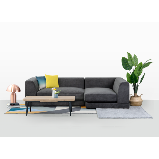 Abby L Shape Sofa Granite Premium Sofas By Hipvan Hipvan
