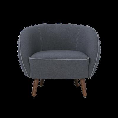 Draven Lounge Chair - Battleship Grey - Image 2