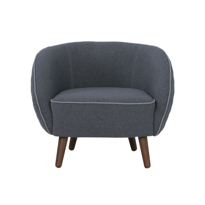 Draven Lounge Chair - Battleship Grey - Image 2