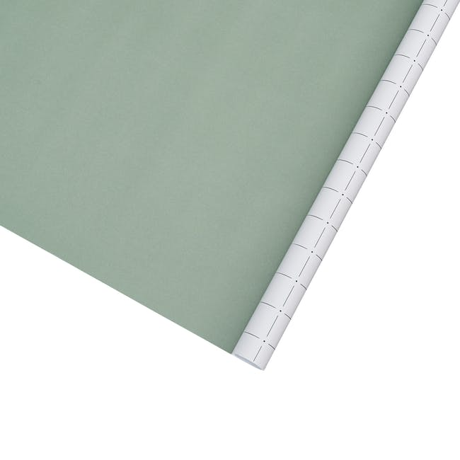 Gift Wrapping Paper - Green and Grey Grids - 5m - 0