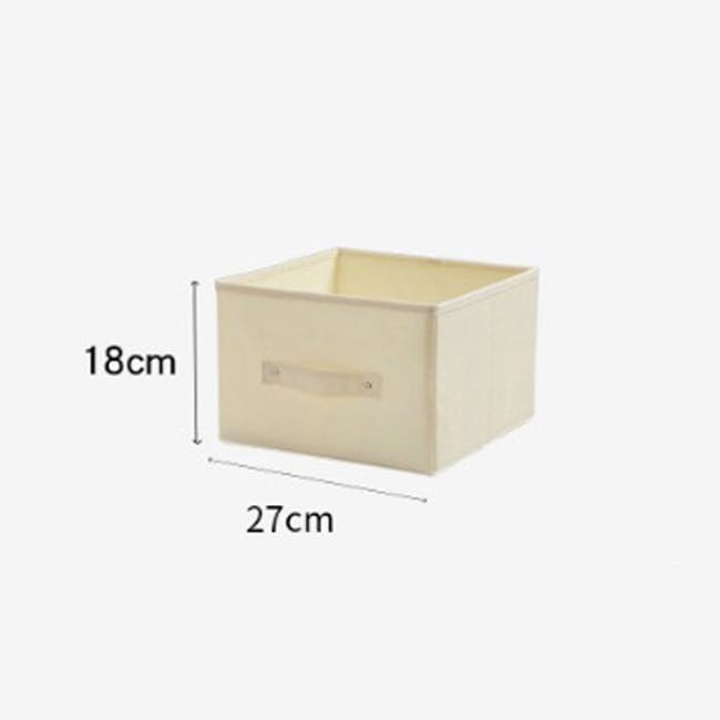 Cindy Storage Case With Handle - Cream - 2