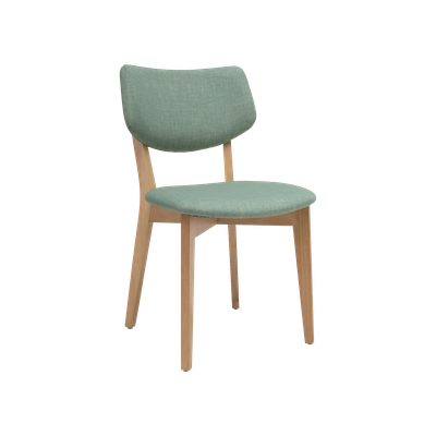 Gabby Dining Chair - Natural, Sea Green - Image 1