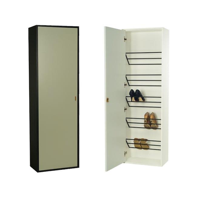 Taber Shoe Cabinet - Dust Green - 0