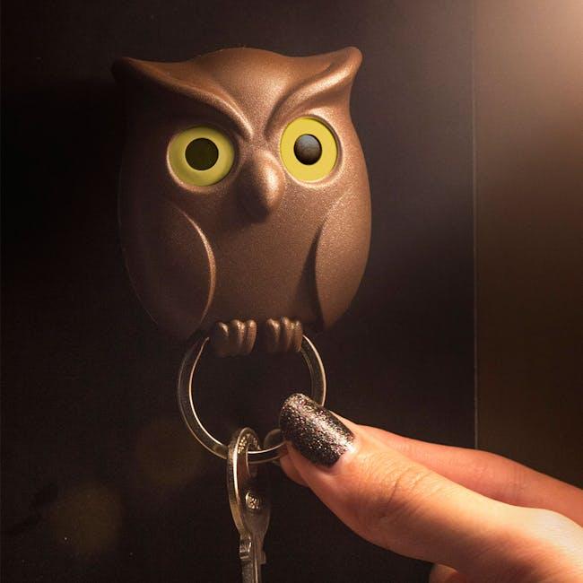 Night Owl Key Holder - White - 3