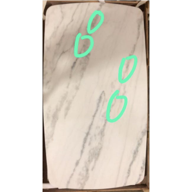 (As-is) Hagen Marble Dining Table 1.6m - 3 - 2