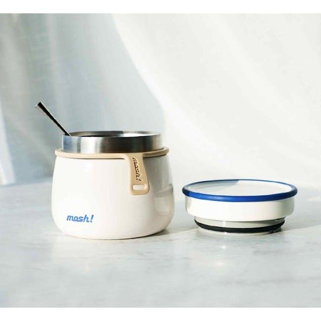 MOSH! Latte Food Pot 350ml - White - 4