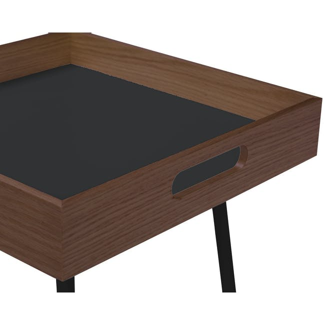 Gable Side Table - Walnut - 2