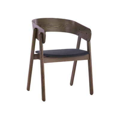 Venice Dining Chair - Walnut, Dark Grey - Image 1