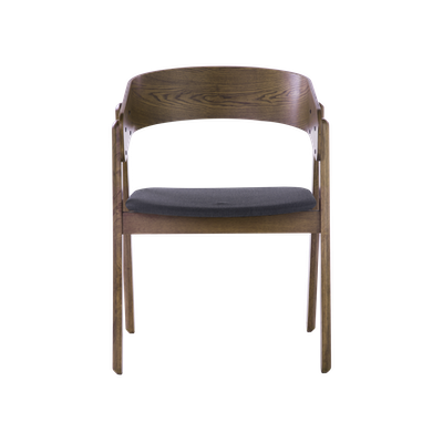 Venice Dining Chair - Walnut, Dark Grey - Image 2