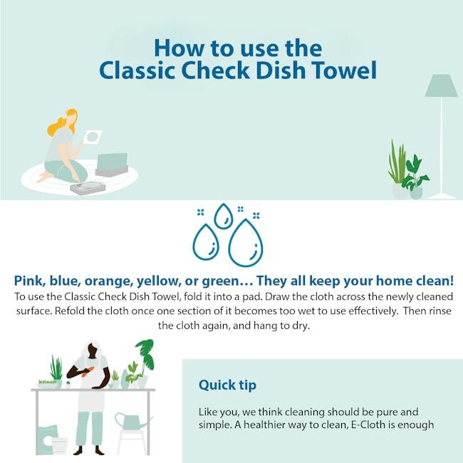 e-cloth Eco Tea Towel / Dish Cleaning Cloth - Blue - 1