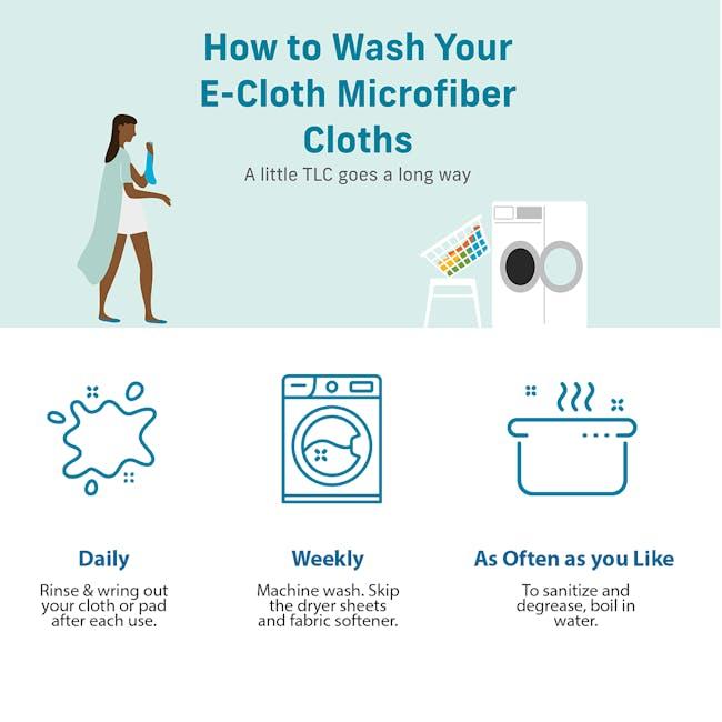 e-cloth Eco Tea Towel / Dish Cleaning Cloth - Blue - 2