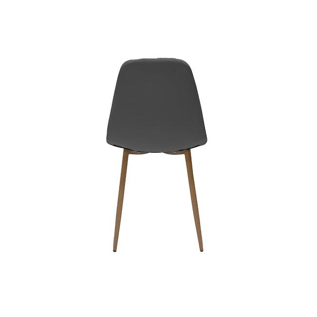 Finnley Dining Chair - Walnut, Dark Grey - 2