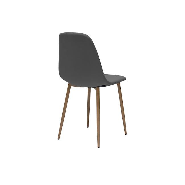 Finnley Dining Chair - Walnut, Dark Grey - 3
