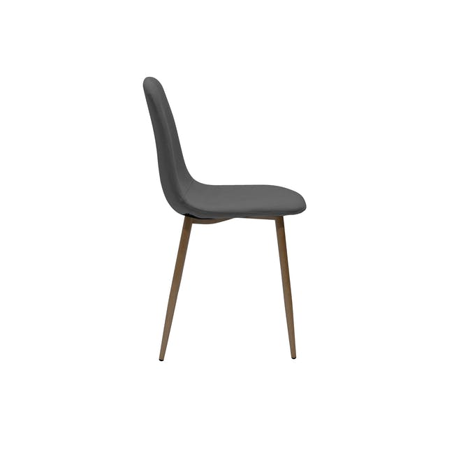 Finnley Dining Chair - Walnut, Dark Grey - 4