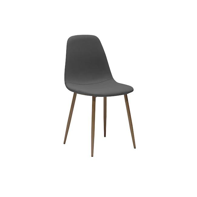 Finnley Dining Chair - Walnut, Dark Grey - 0