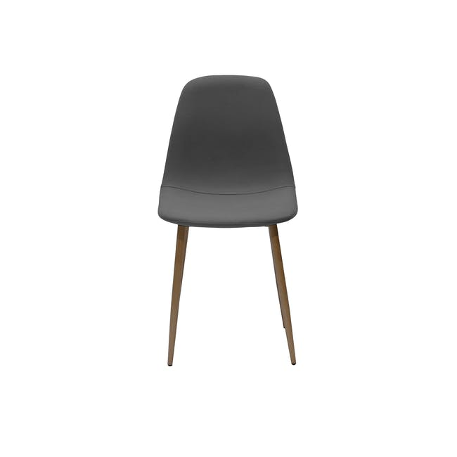 Finnley Dining Chair - Walnut, Dark Grey - 1