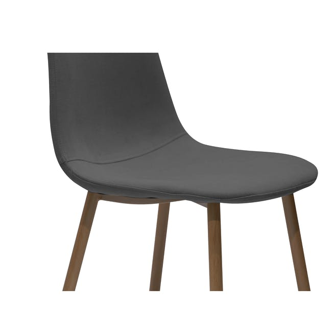 Roden Dining Table 1.8m in Cocoa with 4 Finnley Dining Chairs in Stone Grey and Dark Grey - 18