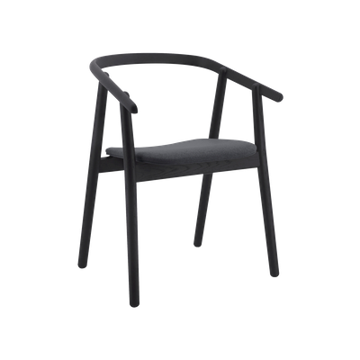 Glen Dining Chair - Black, Dim Grey - Image 1