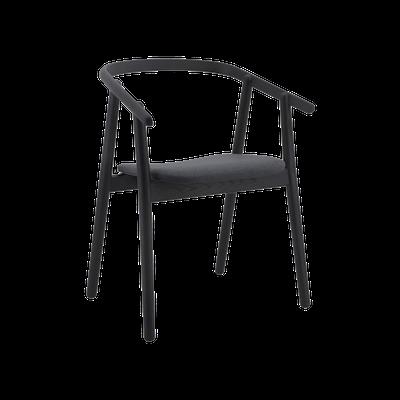 Glen Dining Chair - Black, Dim Grey - Image 1