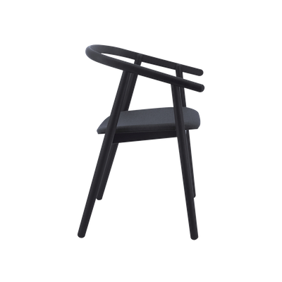 Glen Dining Chair - Black, Dim Grey - Image 2