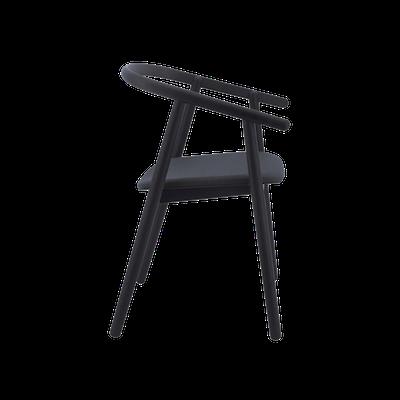 Glen Dining Chair - Black, Dim Grey - Image 2
