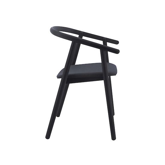 Helga - Glen Dining Chair - Black, Dim Grey