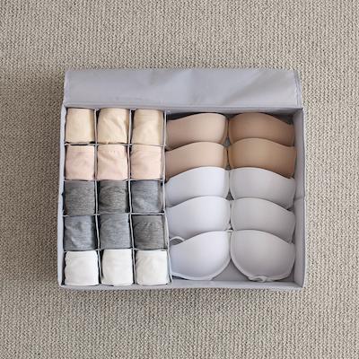 Hayley Wardrobe Storage Case - Grey - Image 2