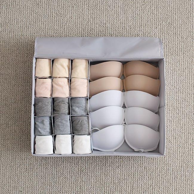 Hayley Wardrobe Storage Case 13 Compartments - White - 2