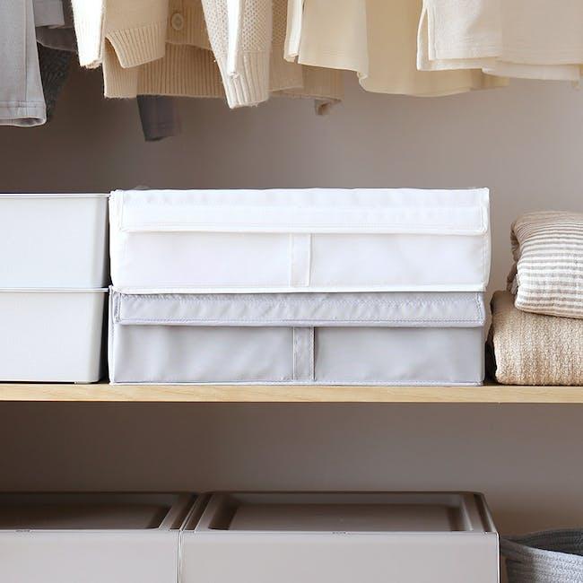 Hayley Wardrobe Storage Case 13 Compartments - White - 3