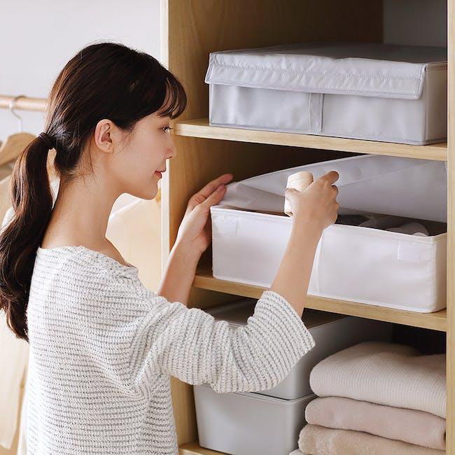 Hayley Wardrobe Storage Case 13 Compartments - White - 4