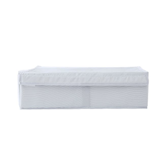 Hayley Wardrobe Storage Case without Compartments - White - 1