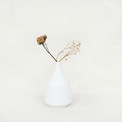 Nordic Matte Vase Short Neck Bud - White