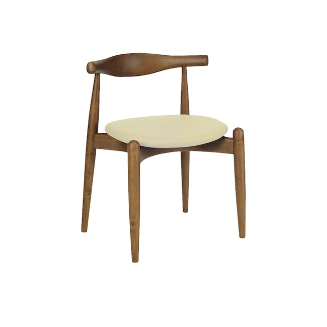 (As-is) Bouvier Dining Chair - Walnut, Cream - 1 - 0