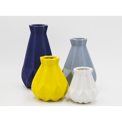 Theo Ceramic Vase - Blue Grey - Image 2