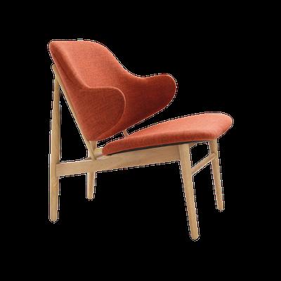 Veronic Lounge Chair - Russet, Oak - Image 1