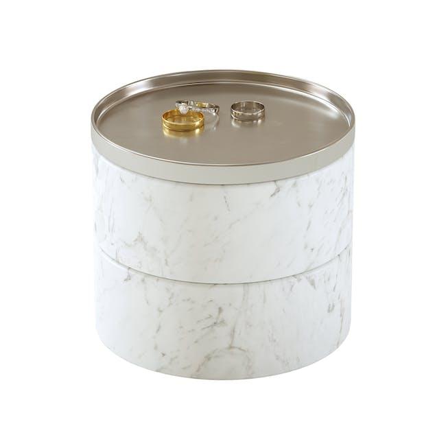 Tesora Marble Box - White, Nickel - 3