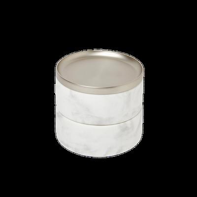 Tesora Marble Box - White, Nickel - Image 1