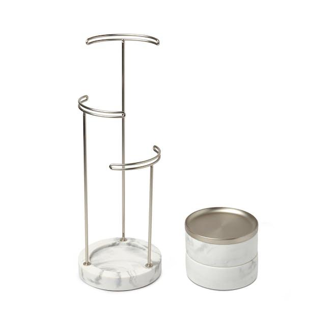 Tesora Marble Box - White, Nickel - 2
