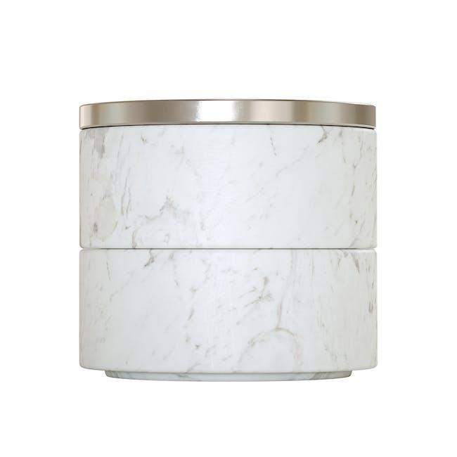 Tesora Marble Box - White, Nickel - 4