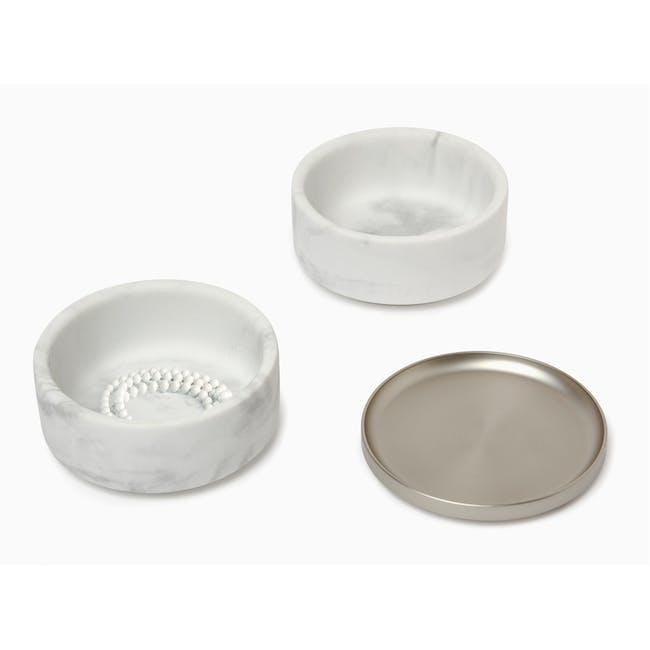 Tesora Marble Box - White, Nickel - 1