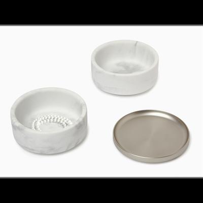 Tesora Marble Box - White, Nickel - Image 2