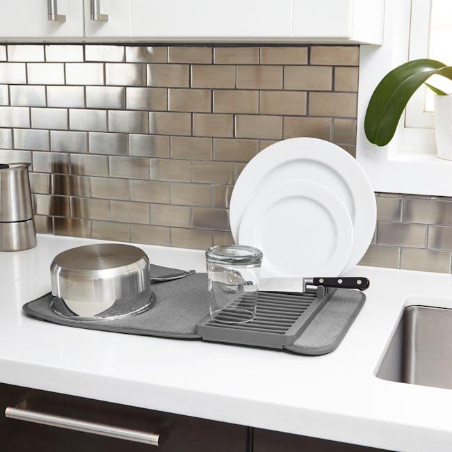 Udry Mini Dish Drying Mat - Charcoal - 4