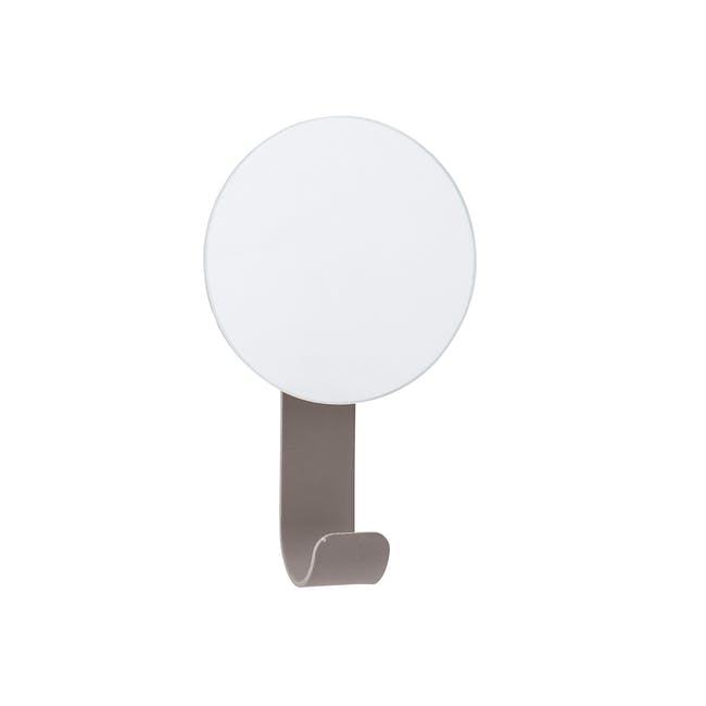 Laura Wall Mirror with Hook - Grey - 0