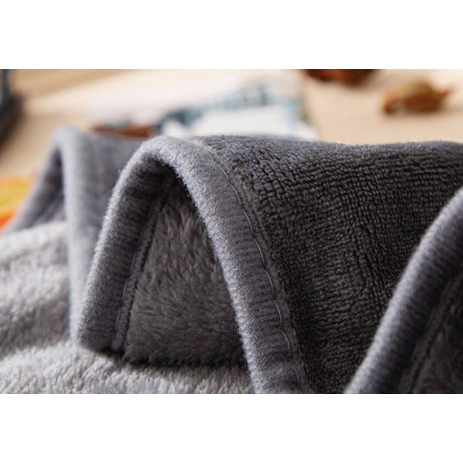 Marlow Velvet Plush Blanket - Dark Grey - 3