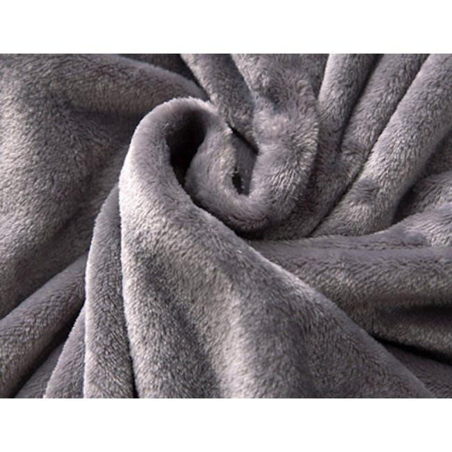 Marlow Velvet Plush Blanket - Dark Grey - 2