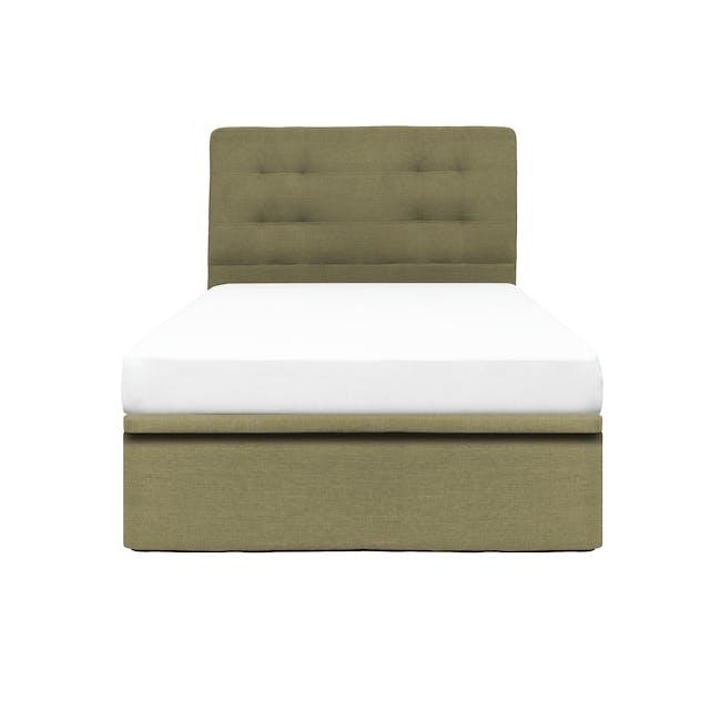 ESSENTIALS Super Single Headboard Storage Bed - Khaki (Fabric) - 0